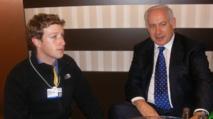 El ejecutivo de Facebook Mark Zuckerberg-a la izquierda- con el primer ministro israelí Netanyahu