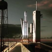 Representación de cómo será el cohete