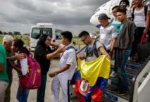 Los colombianos, al llegar a Cuba.