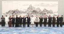 Los presidentes de los países de los BRICS y los de Egipto, México, Guinea,Tailandia y Tayikistán y sus esposas.