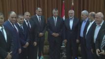 Los delegados palestinos en El Cairo