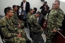 Los militares sentenciados por las ejecuciones.