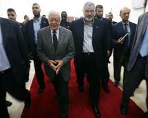 Carter, durante una visita a Gaza.