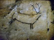 Una de las pinturas de la cueva del Castillo, en España.