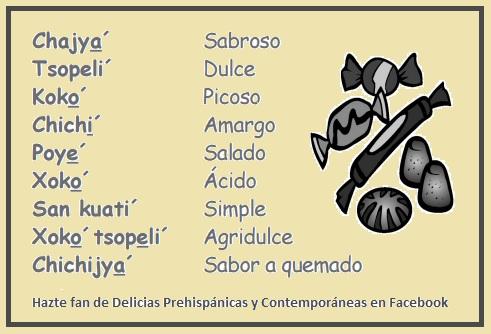 Los sabores en Nahuatl