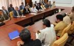 Los delegados del gobierno y de la guerrilla en Cuba