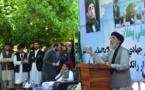 Hekmatyar dando un discurso
