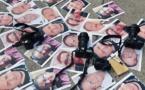 Acto de protesta contra los asesinatos de periodistas