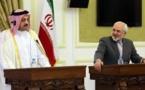 Los ministros de Exteriores catarí-a la izquierda-e iraní.