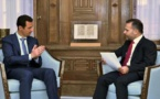 Bashar Al Asad, a la izquierda