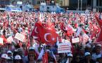 Inédita manifestación interpartidaria contra el golpe en Turquía