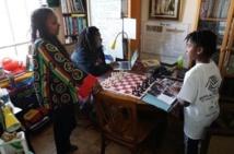 Una familia negra afroestadounidense