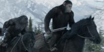 Una escena del planeta de los simios: la guerra