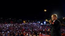 Erdogan durante uno de los discursos