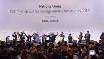 El momento cuando fue aprobado el acuerdo en París
