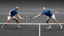 Nadal-a la izquierda-y Federer jugando juntos