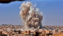 Un bombardeo en Siria