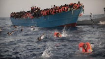 Inmigrantes africanos en el mediterráneo