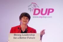 La líder del DUP Arlene Foster
