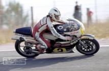 Angel Nieto con la Suzuki en 500