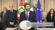 El presidente del congreso, Roberto Fico, del movimento 5 estrellas