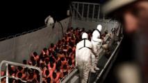 Los inmigrantes africanos a bordo del Aquarius