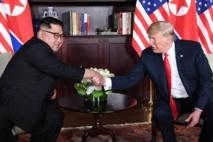 Kim Jong Un-a la izquierda-y Donald Trump.