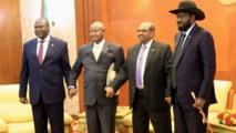 Los líderes de Sudán del Sur y el presidente de Sudán