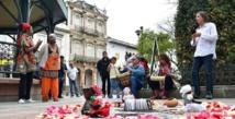 Nila de Aguiar durante la ceremonia ancestral con motivo de la celebración del Día Nacional del Pueblo Negro.