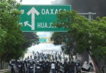 Policías en Oaxaca