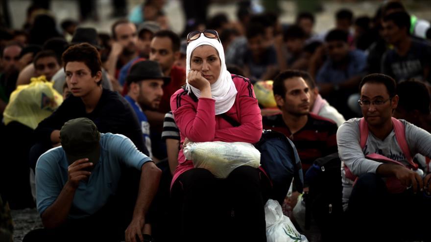 Refugiados en la frontera entre Grecia y Macedonia en agosto de 2016.