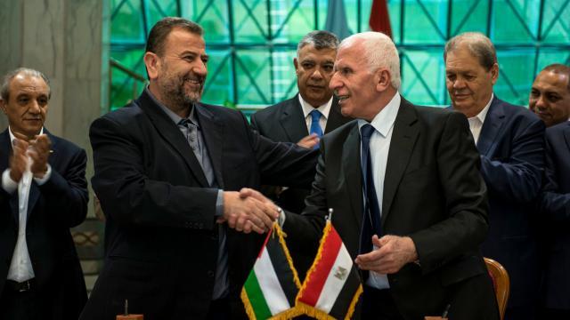Al Aruri-a la izquierda- y Al Ahmad