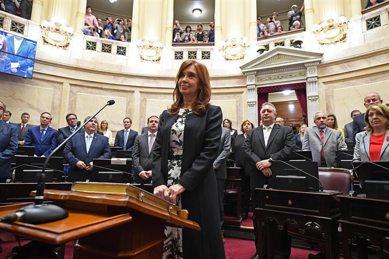 Cristina en el senado