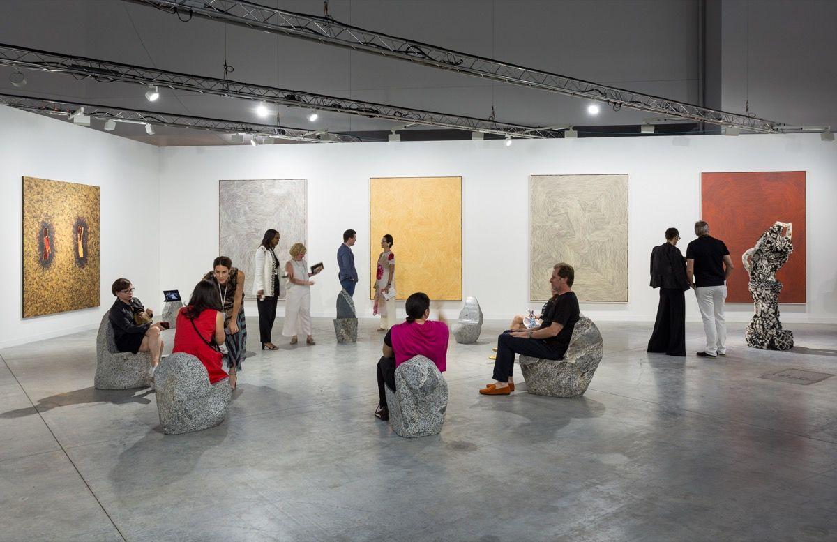 Una sala de Art Basel en Miami