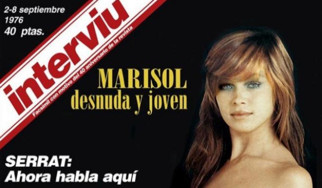 La portada de Interviu con Marisol de septiembre de 1976