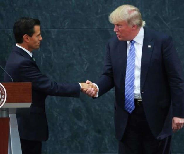 Peña Nieto-a la izquierda-y Trump