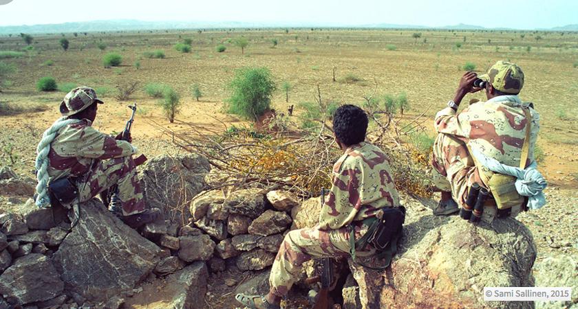 Soldados eritreos en la frontera