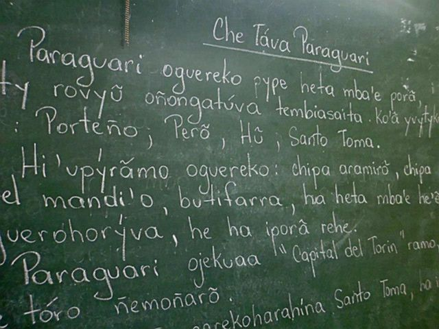 Un texto en guaraní