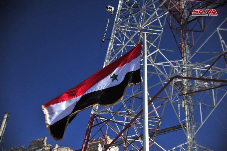 La bandera siria en Deraa