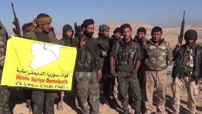 Milicianos kurdos sirios