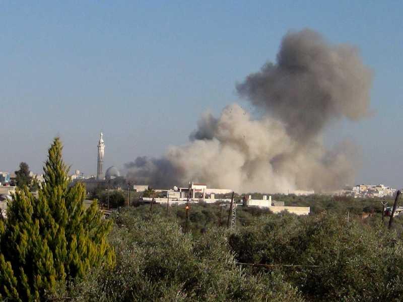 Un bombardeo en la provincia de Alepo