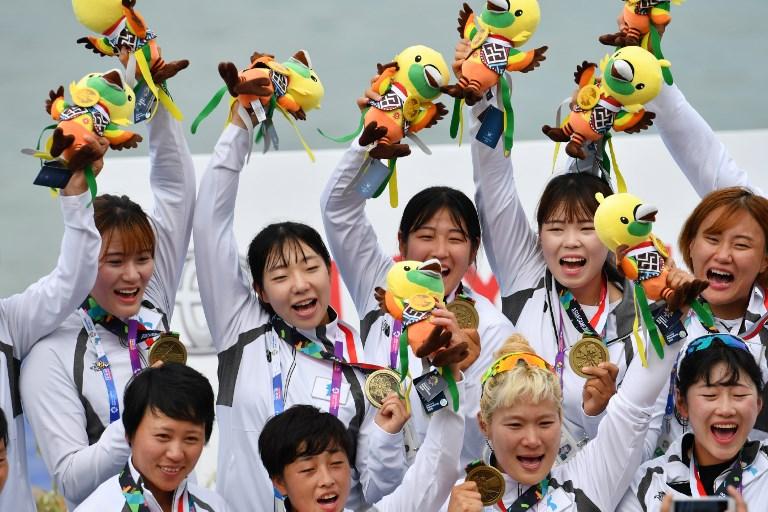 Las jugadoras coreanas
