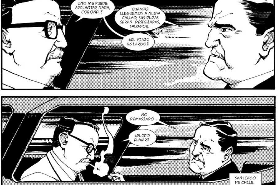 Unas viñetas del cómic
