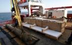 España recupera dos cañones sumergidos a un kilómetro de profundidad