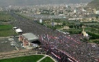 Marcha en respaldo a hutis en Yemen tras muerte de ex presidente