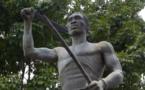 La estatua de Gaspar Yango en Yango, Veracruz, México.