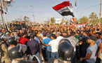 Manifestantes en Basra