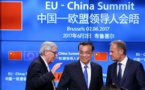 De izquierda a derecha, Juncker, Li Keqiang y Tusk