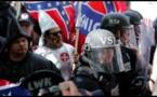 Manifestantes racistas en Washington