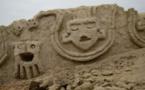 Descubren mural de 3.800 años en zona arqueológica del Perú
